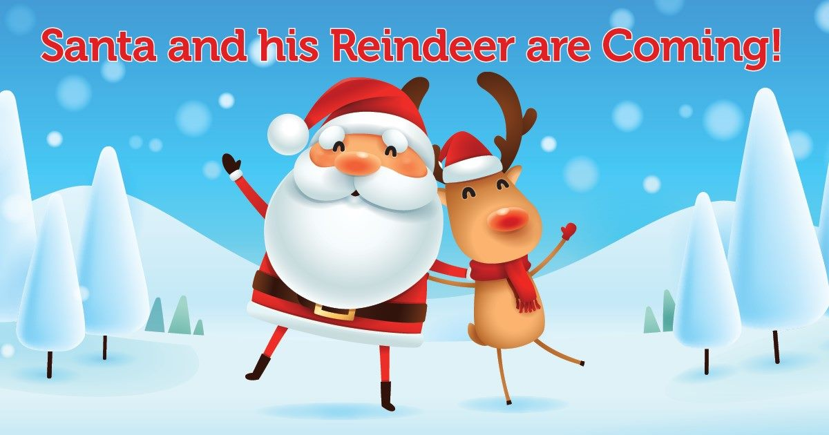 Santa and Reindeer Visit