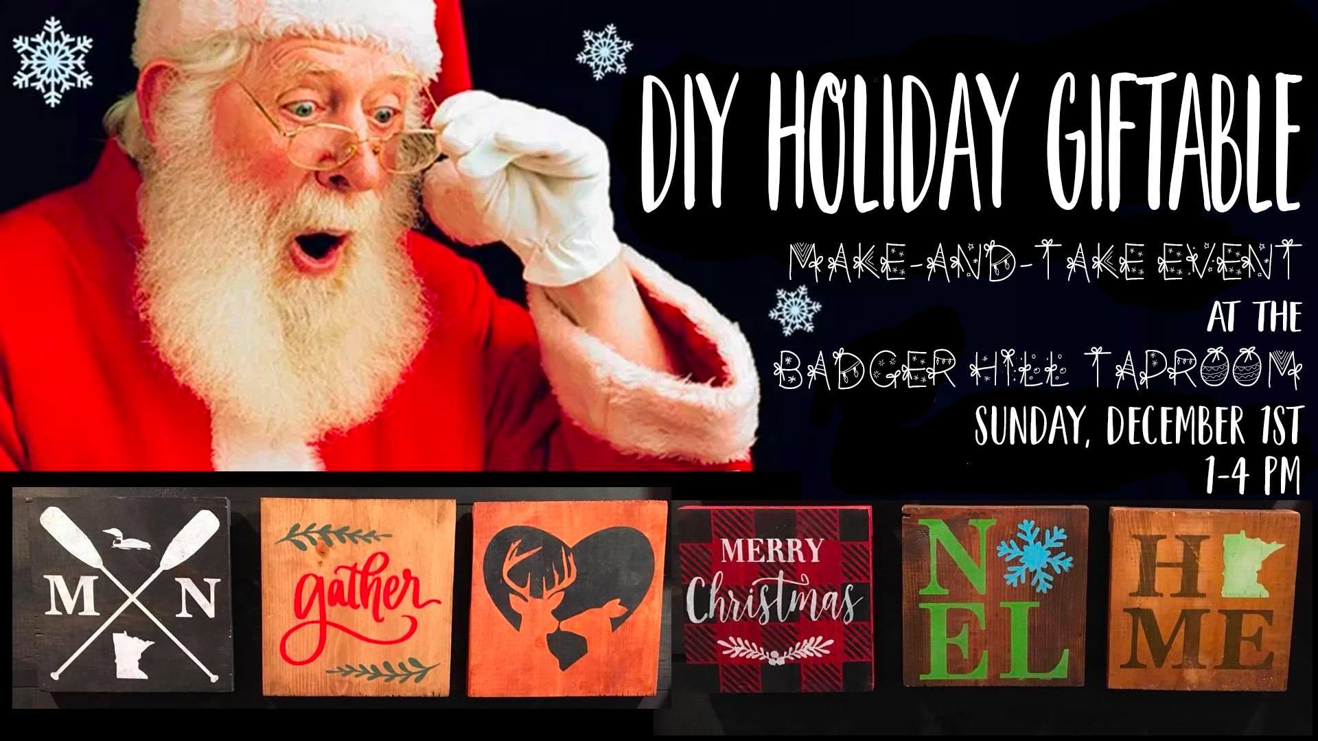 DIY Holiday Signs and Gifts