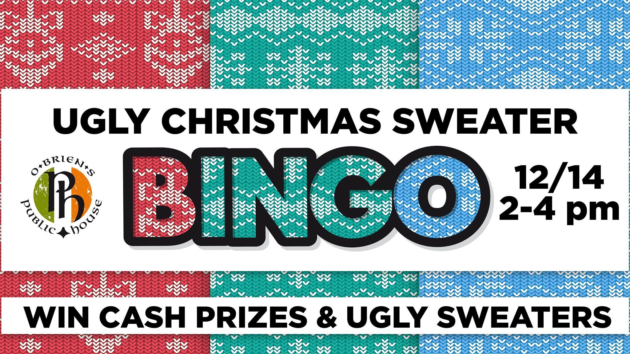 Ugly Christmas Sweater Bingo!