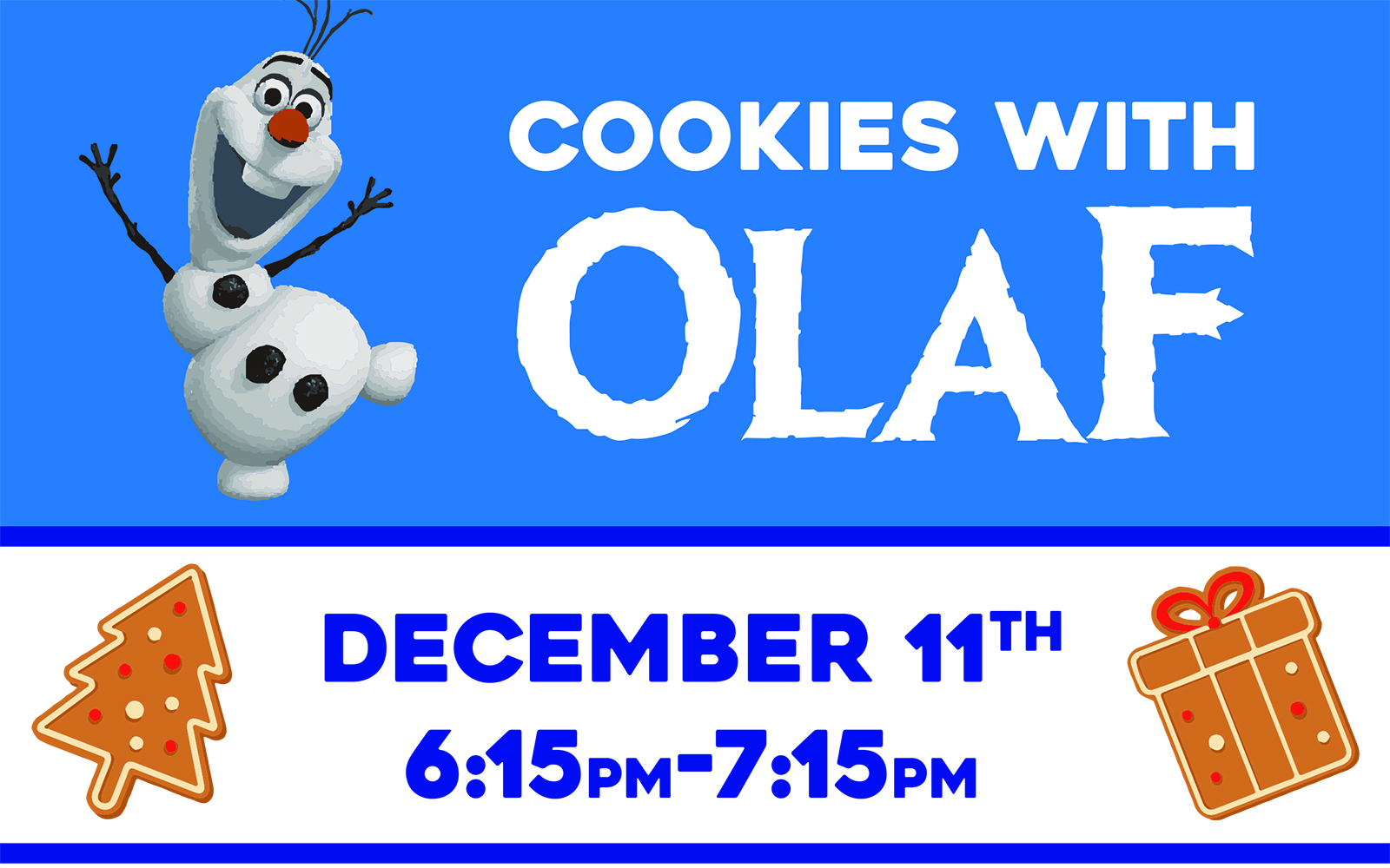 Cookies with Olaf