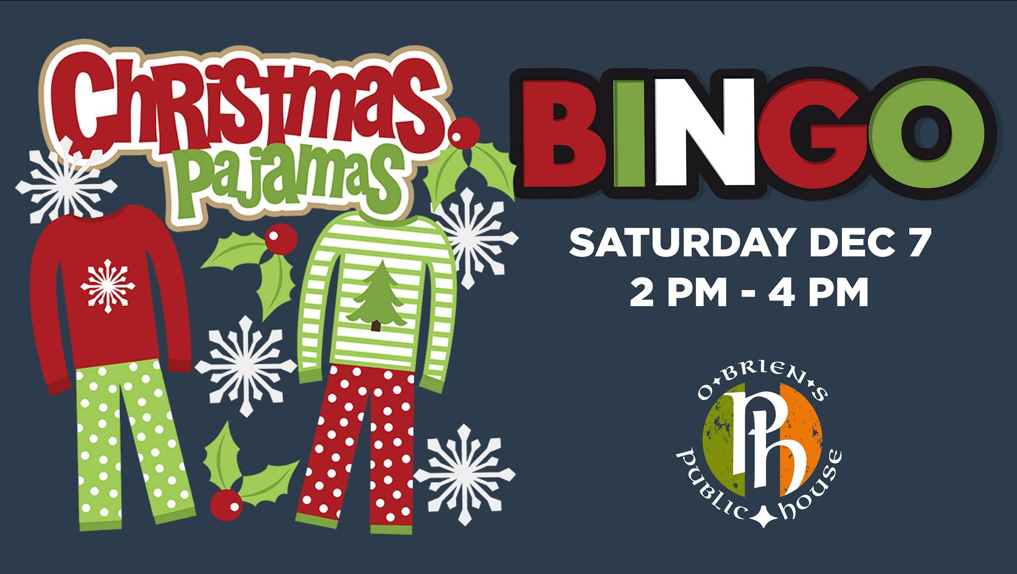 Christmas Pajamas Bingo!