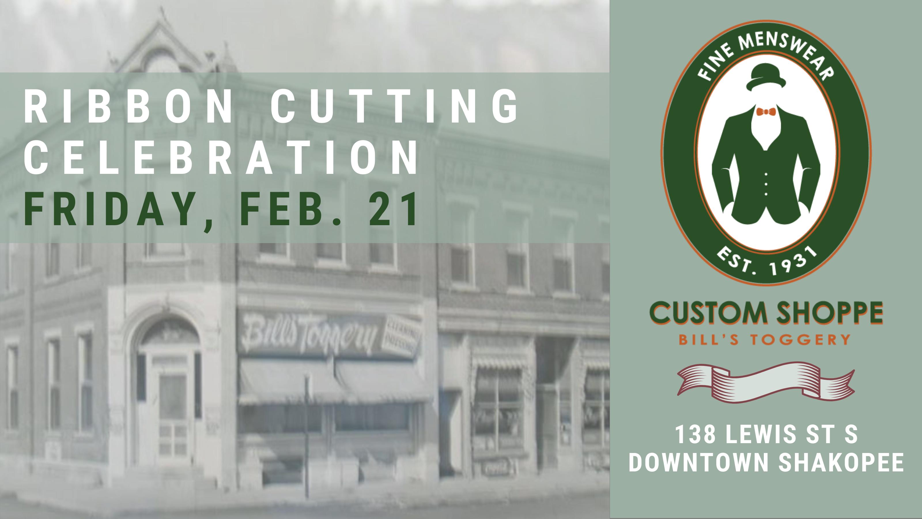 Ribbon Cutting Celebration Custom Shoppe Bill's Toggery
