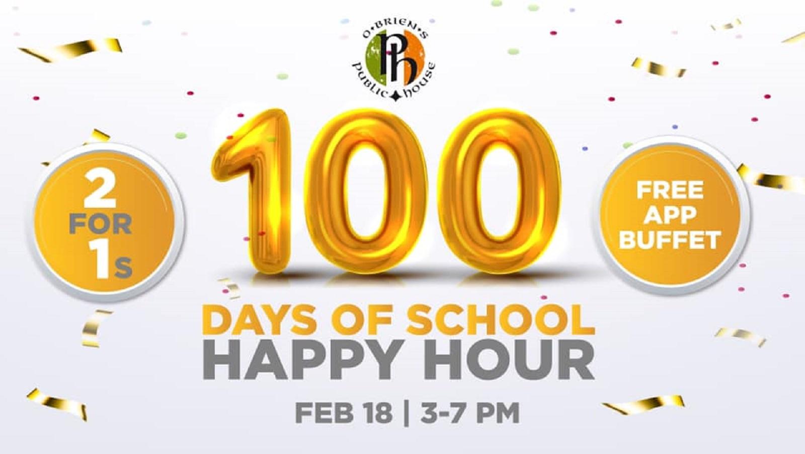 100 Days of School Happy Hour