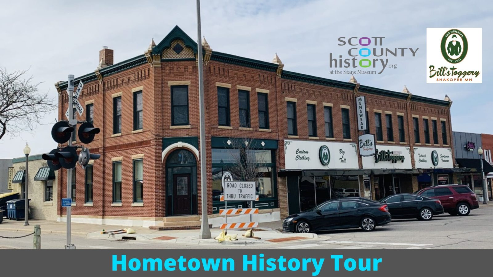 Hometown History Tour – Bill's Toggery – Facebook Live event!