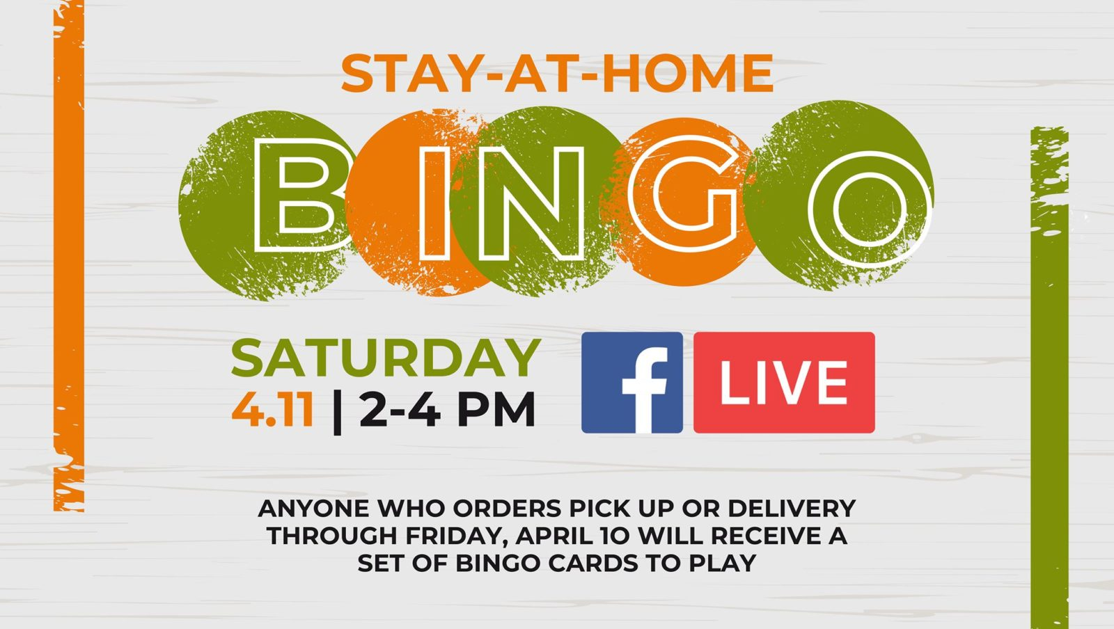 Stay-At-Home BINGO