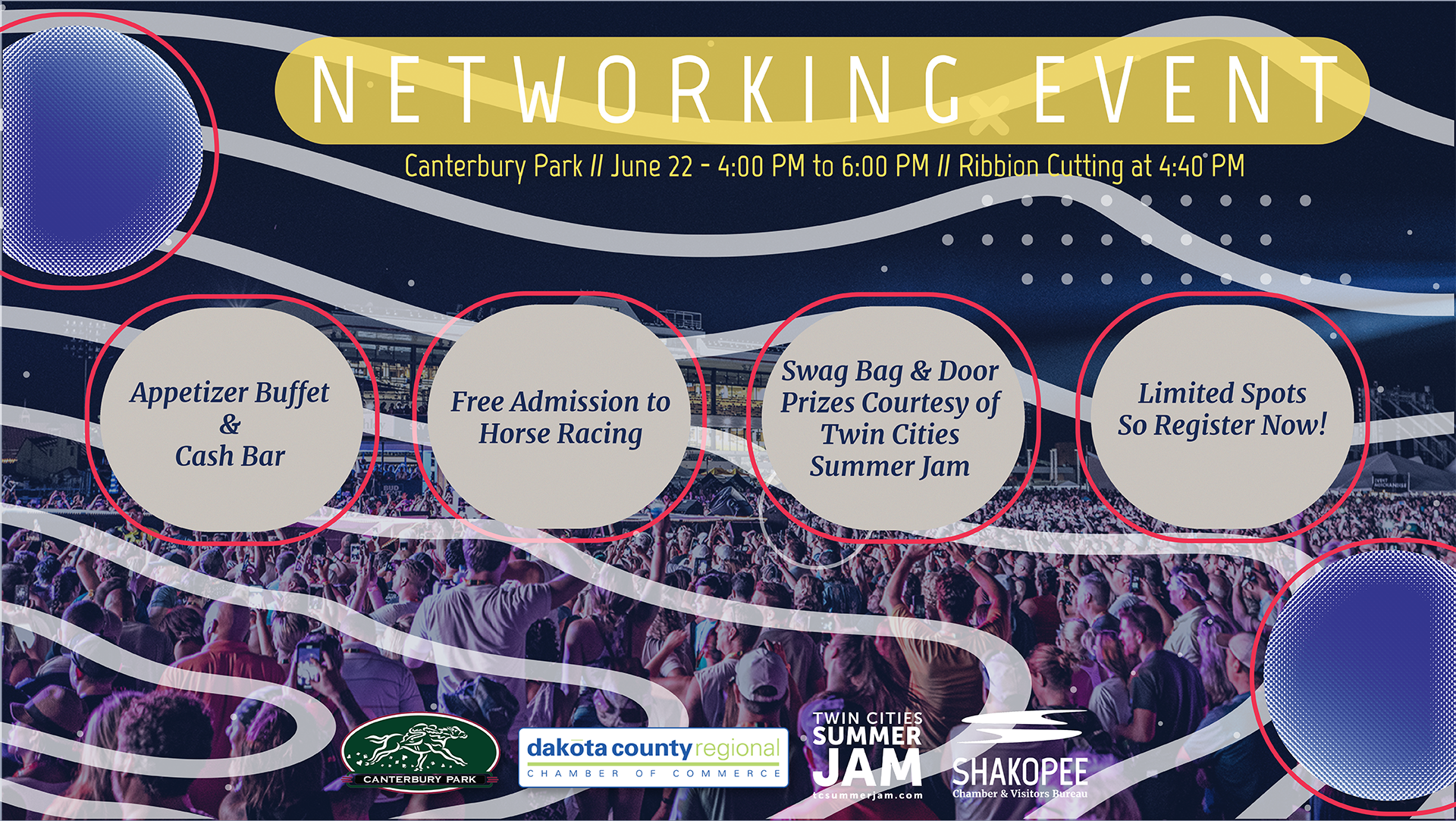 Twin Cities Summer Jam Chamber Cocktail Hour & Networking Event